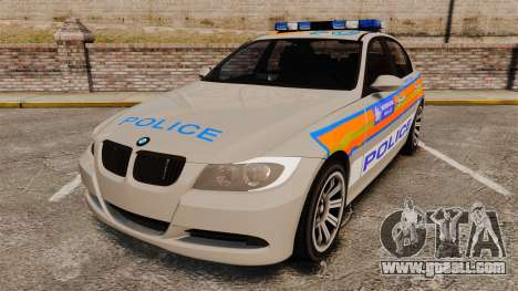 BMW 330 Metropolitan Police [ELS] for GTA 4
