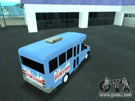 Ford Shuttle Bus for GTA San Andreas upper view