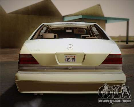 Mercedes-Benz S600 V12 Custom for GTA San Andreas side view