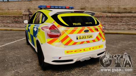 Ford Focus 2013 Uk Police [ELS] for GTA 4 back left view