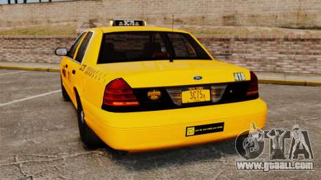 Ford Crown Victoria 1999 NYC Taxi for GTA 4 back left view