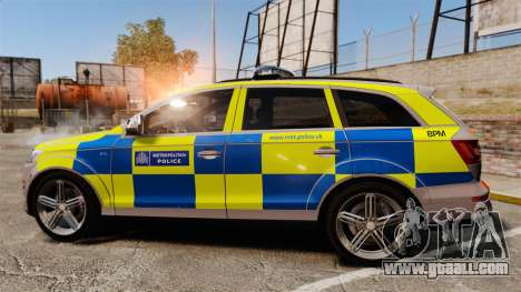 Audi Q7 Metropolitan Police [ELS] for GTA 4 left view