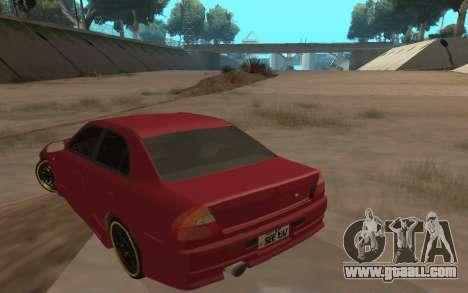 Mitsubishi Lancer Evolution VI for GTA San Andreas back left view