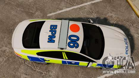 Jaguar XFR 2010 British Police [ELS] for GTA 4 right view