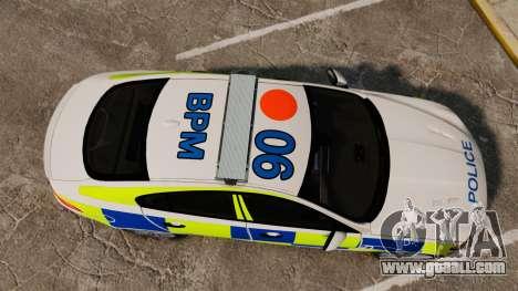 Jaguar XFR 2010 British Police [ELS] for GTA 4 right view