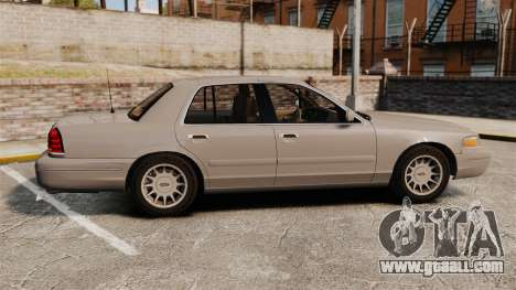 Ford Crown Victoria 1999 for GTA 4 left view