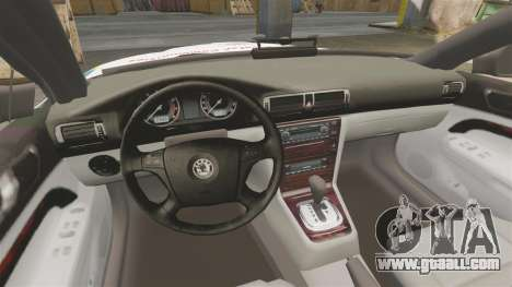 Skoda Superb 2006 Police [ELS] Whelen Justice for GTA 4 side view