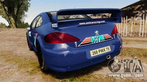 Peugeot 307 WRC for GTA 4 back left view