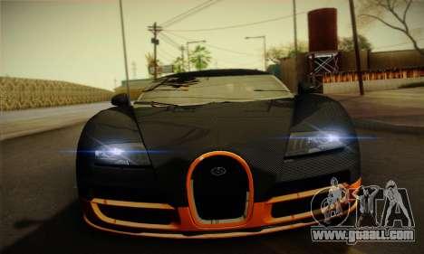 Bugatti Veyron Super Sport World Record Edition for GTA San Andreas inner view
