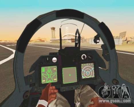 Su-47 Berkut v1.0 for GTA San Andreas bottom view