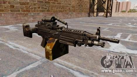 Light machine gun M249 SAW for GTA 4