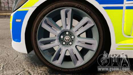 Jaguar XFR 2010 British Police [ELS] for GTA 4 back view