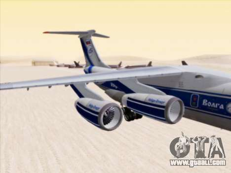Il-76td-90vd to Volga-Dnepr for GTA San Andreas back left view