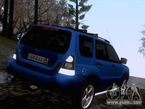 Subaru Forester 2.5XT 2005 for GTA San Andreas back left view