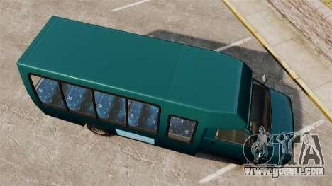 GTA V Brute Tour Bus for GTA 4 right view
