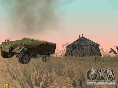 BTR-40 for GTA San Andreas bottom view