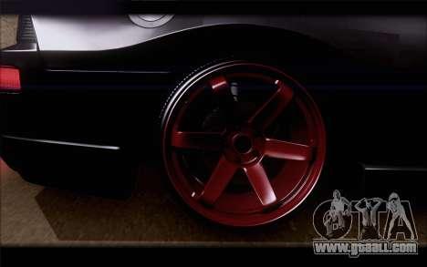 Mitsubishi Eclipse for GTA San Andreas back left view