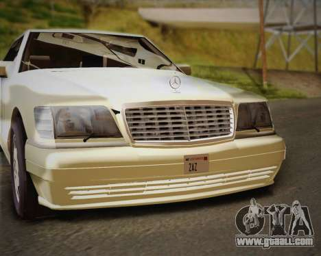 Mercedes-Benz S600 V12 Custom for GTA San Andreas upper view