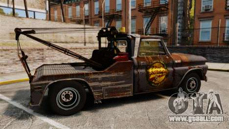 Chevrolet Tow truck rusty Stock for GTA 4 left view