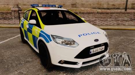 Ford Focus 2013 Uk Police [ELS] for GTA 4