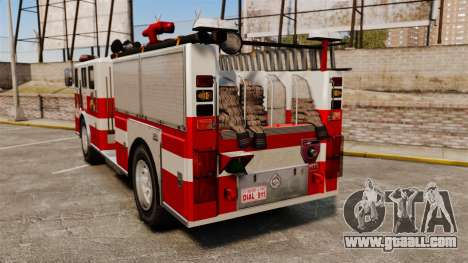 Fire truck for GTA 4 back left view