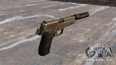 SIG-Sauer P226 pistol with silencer for GTA 4 second screenshot