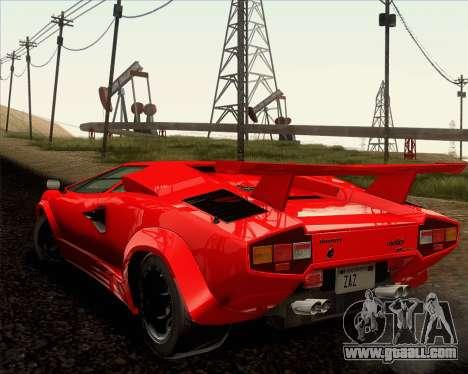 Lamborghini Countach LP500 Quattrovalvole 1988 for GTA San Andreas upper view