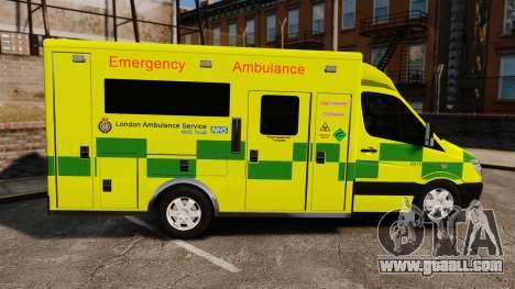 Mercedes-Benz Sprinter [ELS] London Ambulance for GTA 4 left view
