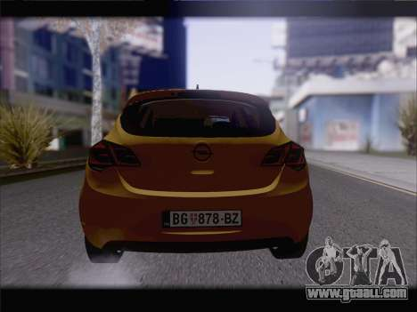 Opel Astra J 2011 for GTA San Andreas back view