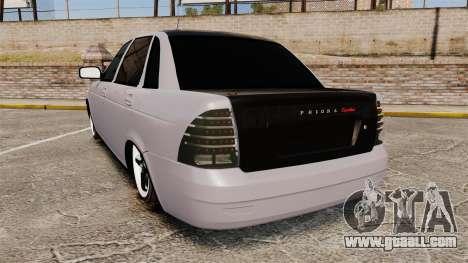 Vaz-2170 Lada Priora Turbo for GTA 4 back left view