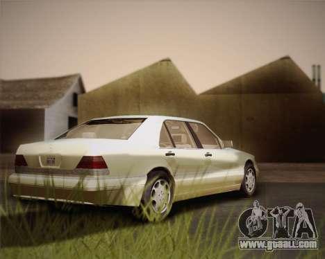 Mercedes-Benz S600 V12 Custom for GTA San Andreas inner view