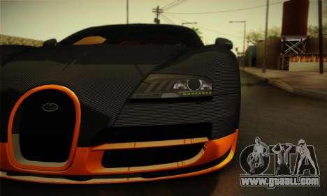 Bugatti Veyron Super Sport World Record Edition for GTA San Andreas right view