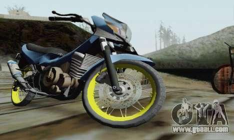 Suzuki Satria FU 150cc 2011 Semi Drag for GTA San Andreas inner view