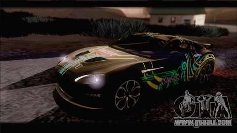 Aston Martin V12 Zagato 2012 [IVF] for GTA San Andreas upper view