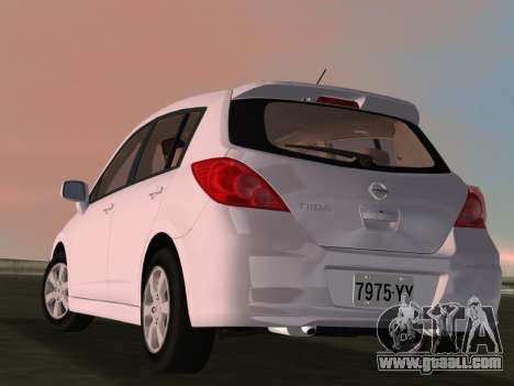 Nissan Tiida for GTA Vice City side view
