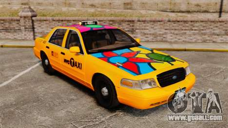 Ford Crown Victoria 1999 NYC Taxi for GTA 4 upper view
