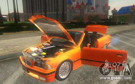 BMW 325i E36 Convertible 1996 for GTA San Andreas back view
