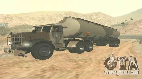 Trailer for GTA 5 Barracks ver. 2 for GTA San Andreas back left view