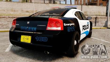 Dodge Charger 2010 Police [ELS] for GTA 4 back left view