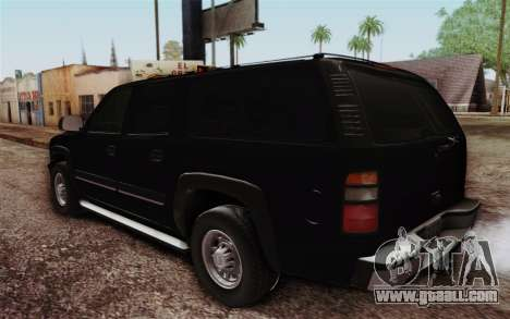 Chevrolet Suburban FBI for GTA San Andreas back left view