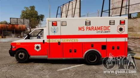 Brute Ambulance FDLC [ELS] for GTA 4 left view