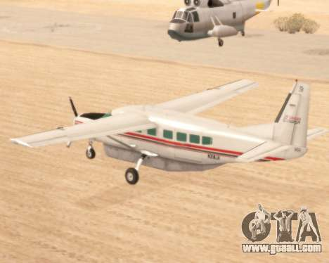 Cessna 208B Grand Caravan for GTA San Andreas back left view