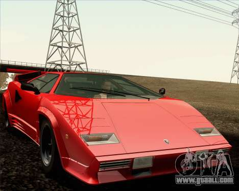 Lamborghini Countach LP500 Quattrovalvole 1988 for GTA San Andreas bottom view