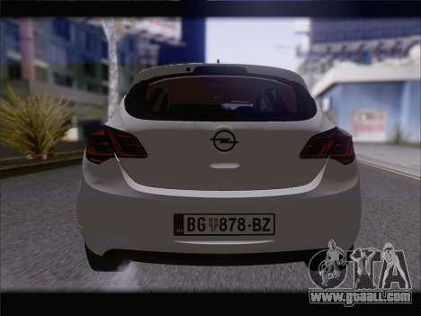 Opel Astra J 2011 for GTA San Andreas inner view