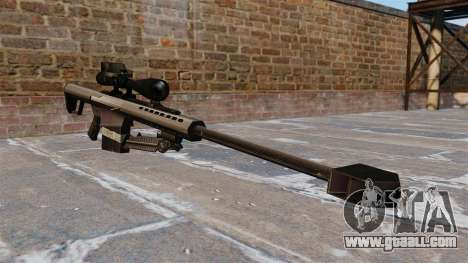 The Barrett M82 sniper rifle 50 Cal for GTA 4