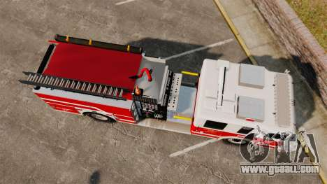Firetruck Alderney [ELS] for GTA 4 right view