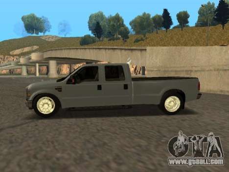 Ford F-350 for GTA San Andreas left view