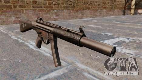 HK MP5A5 submachine gun for GTA 4