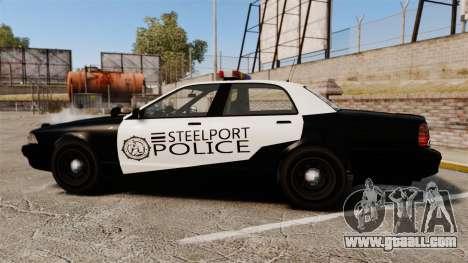 GTA V Vapid Steelport Police Cruiser [ELS] for GTA 4 left view