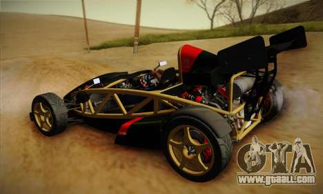 Ariel Atom 500 2012 V8 for GTA San Andreas back view